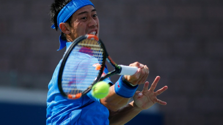 Kei Nishikori downed German Benjamin Becker 6-1, 6-1, 3-6, 6-3 to advance at the US Open