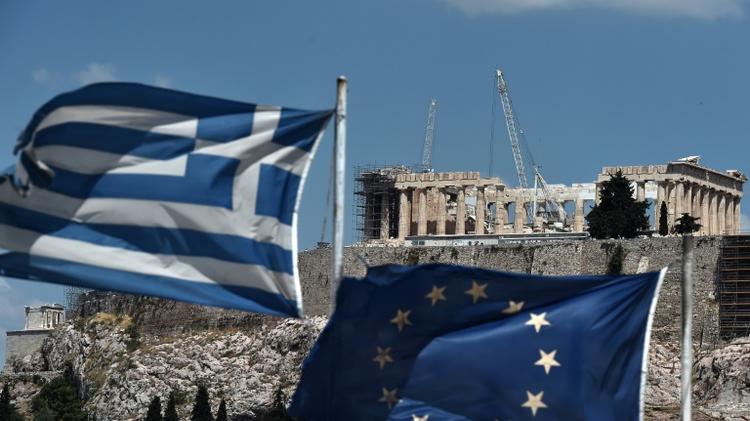 Vue d'Athènes, le 7 juillet 2015