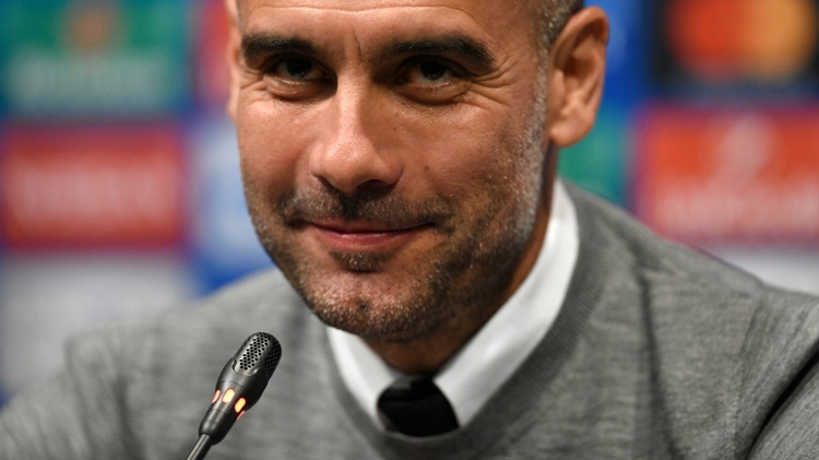 Manchester City's Spanish coach Pep Guardiola gives a press conference at Camp Nou stadium in Barcelona on October 18, 2016, on the eve of the UEFA Champions League football match between FC Barcelona and Manchester City