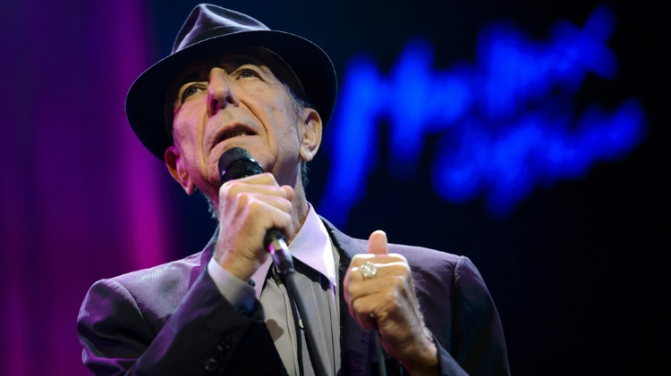Leonard Cohen in concert at Montreux in July 2016