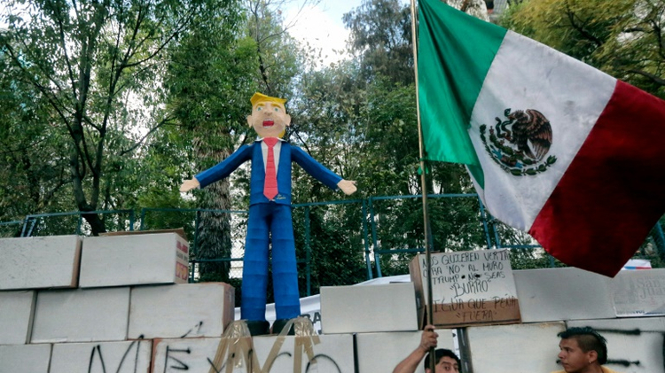 Thousands of Protesters March in Mexico Against President Trump
