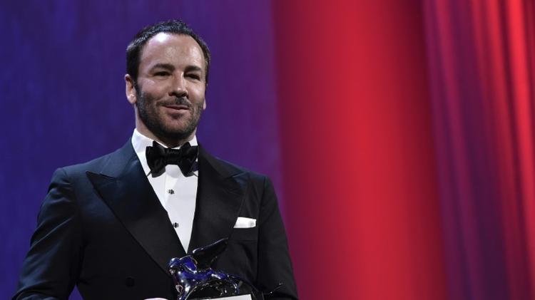 """Le réalisateur américain Tom Ford décroche le Lion d'Argent avec """"Nocturnal Animals"""", le 10 septembre 2016 à Venise"""