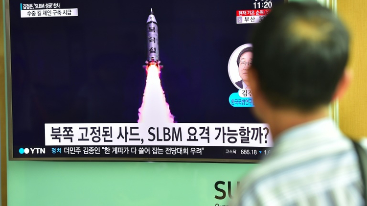N.Korea Fires Missile as Trump Meets Abe
