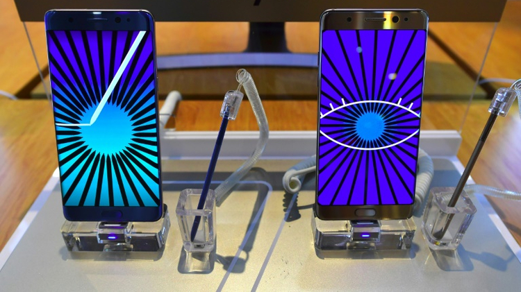 Samsung suspended sales of the Galaxy Note 7 and recalled 2.5 million units following problems with batteries exploding or burning while charging