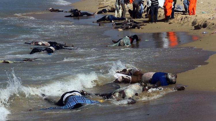 actu international corps migrants decouverts plage libyenne