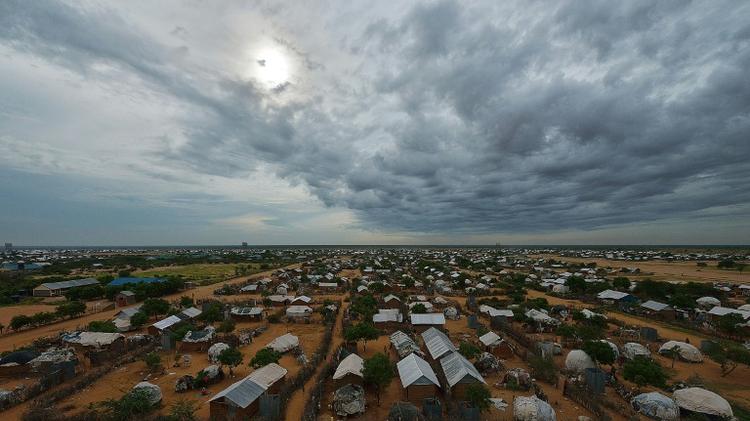 جانب من مخيم داداب للاجئين