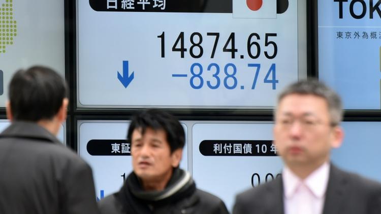 L'indice Nikkei a lâché 4,84% vendredi à Tokyo, tombant au plus bas depuis octobre 2014
