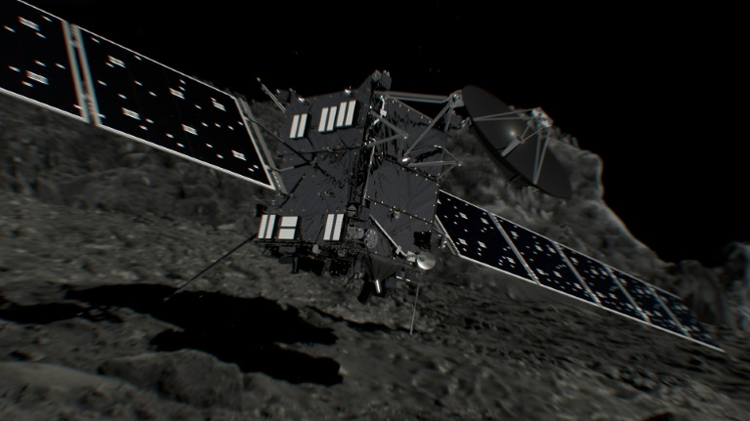 Rosetta probe crashes into its comet