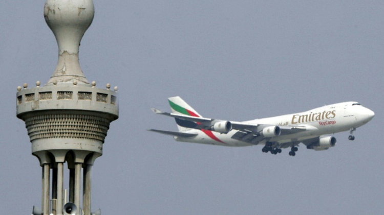 An airplane of Emirates Airlines in Dubai