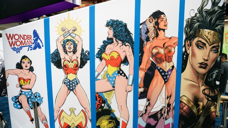 Une affiche Wonder Woman au Comic-Con 2016 à San Diego, California