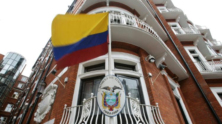 L'ambassade de l'Equateur à Londres, le 19 juin 2016