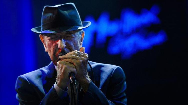 Le chanteur canadien Leonard Cohen le 5 juillet 2013 à Montreux, en Suisse