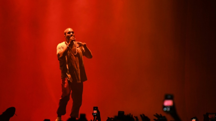 Kanye West on stage at Meadows Music & Arts Festival October 2, 2016 in New York