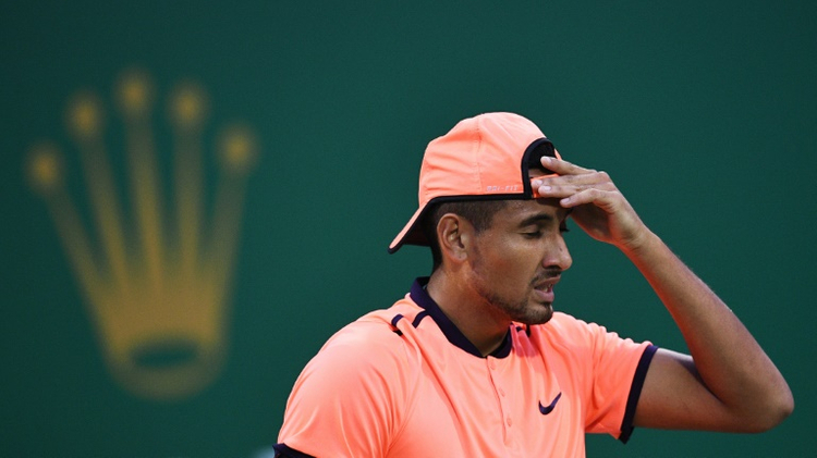 Australia's Nick Kyrgios lost in straight sets at the Shanghai Masters on October 12, 2016