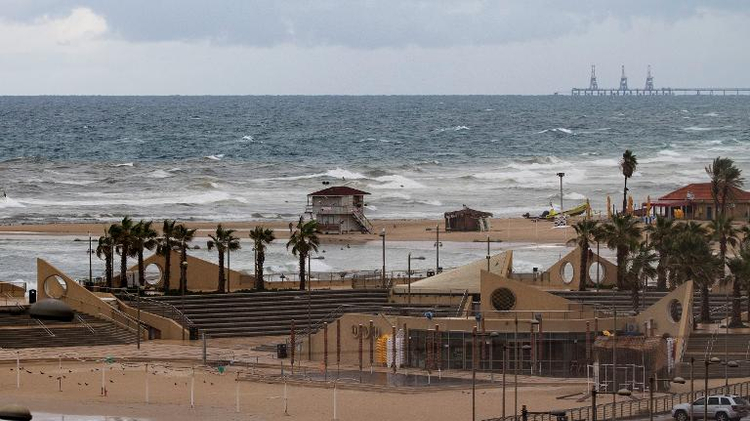 In this file photo, stormy sea is seen near the Israeli Mediterranean coastal town of Netanya, north of Tel Aviv, on December 11, 2013