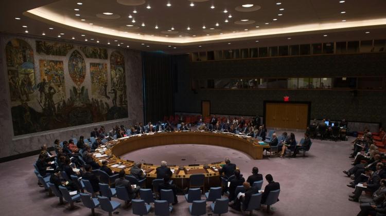 Le Conseil de sécurité de l'ONU, réuni à New York au siège des Nations Unies, le 25 septembre 2016.