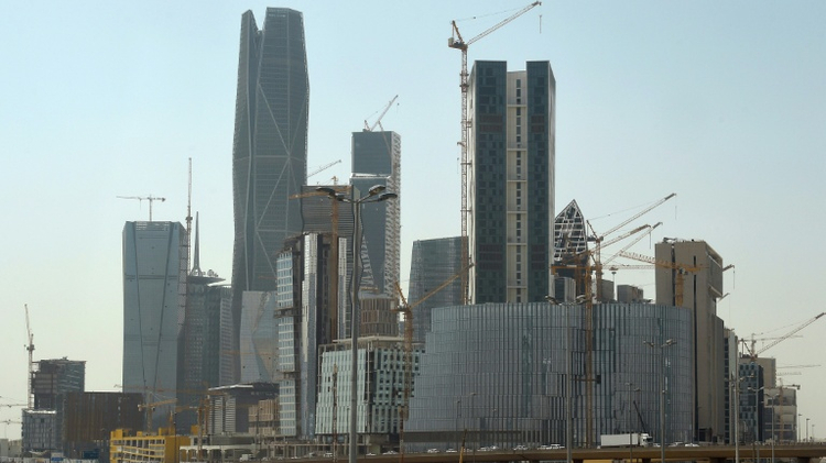 Buildings under construction at the King Abdullah Financial District in the Saudi capital Riyadh