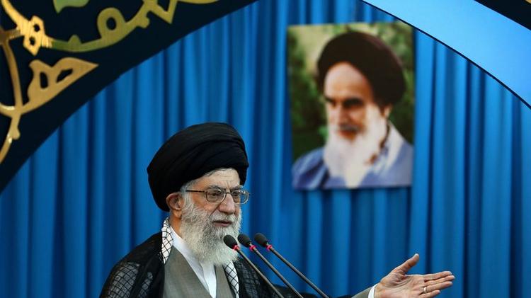 المرشد الاعلى لجمهورية ايران الاسلامية علي خامنئي