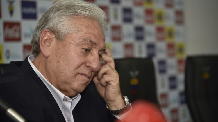 L'ancien président de la Fédération équatorienne de football (FEF) Luis Chiriboga, le 1er juin 2015 à Quito