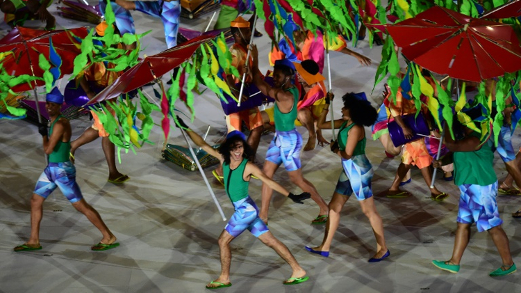 View of the opening ceremony of the Paralympic Games at Maracana Stadium in Rio de Janeiro, Brazil, on September 7, 2016