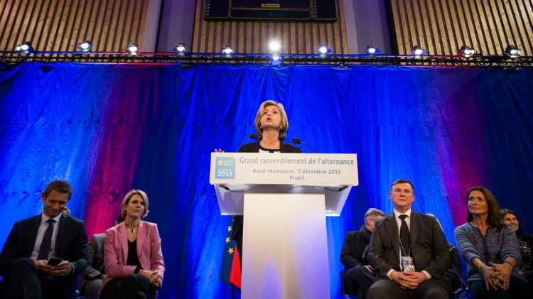 Valérie Pécresse, tête de liste de la droite pour l'Ile-de-France, le 3 décembre 2015 à Reuil-Malmaison, près de Paris