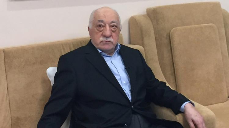 الداعية التركي فتح الله غولن في مقابلة في بنسيلفانيا في 18 تموز/يوليو 2016