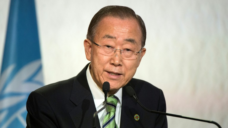 "United Nations Secretary-General Ban Ki-moon told Israel and Palestinian authorities that ""they risk entrenching a one-state reality"""