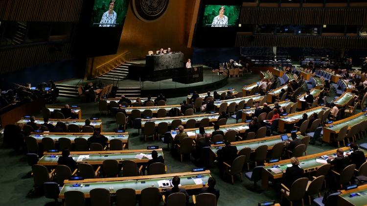 L'Assemblée générale de l'ONU, le 22 janvier 2015 à New York