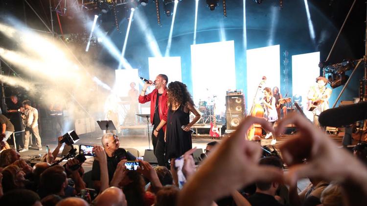 مغني الراب العربي تامر نفار يقدم عرضا في حيفا