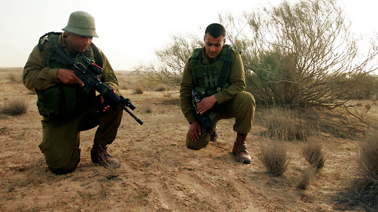 Soldiers in the IDF's Bedouin Trackers Unit