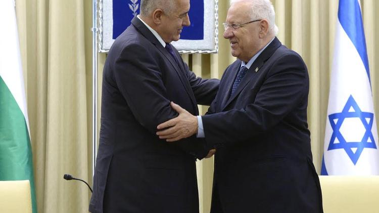 Rencontre entre le Le PM bulgare Boyko Borisov (à gauche) et le président israélien Reuven Rivlin jeudi 25 février 2016