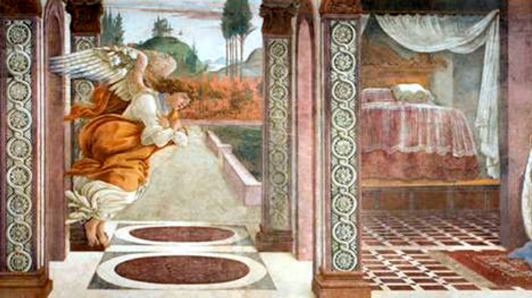 """The Annunciation of San Martino alla Scala,"" Botticelli"