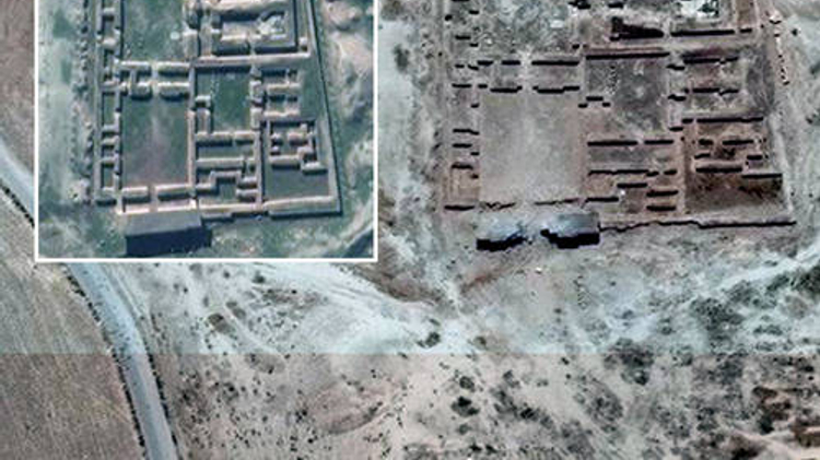 الدمار في هيكل نابو بمدينة نمرود الاثرية في العراق