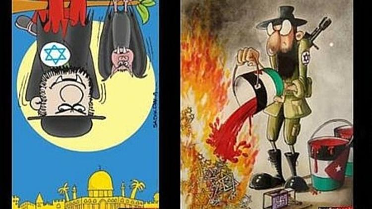 Un dessin envoyé au concours iranien de caricatures négationnistes en 2015