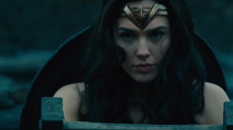 Screen shot from the trailer of the upcoming Wonder Woman film starring Israeli actress Gal Gadot
