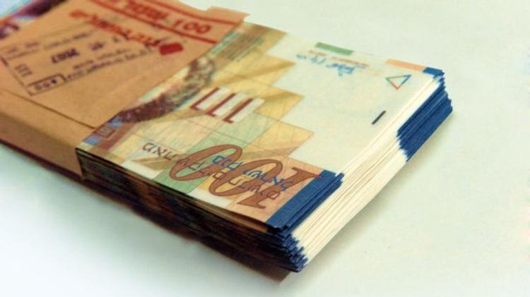 Liasse de shekels israéliens