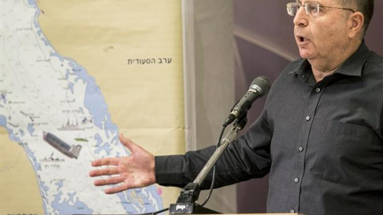 Israeli Defense Minister Moshe Ya'alon gives a press conference at the Defense Ministry in Tel Aviv, on March 5, 2014