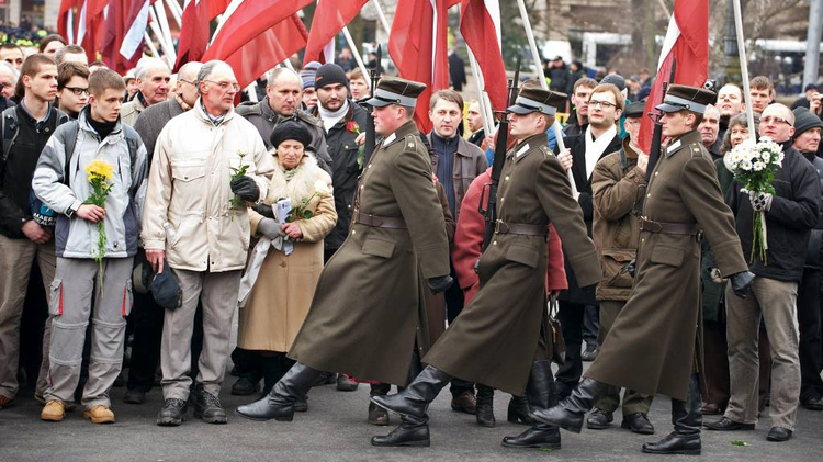 Veterans of Nazi SS Latvian divisions in 2009 event in Riga