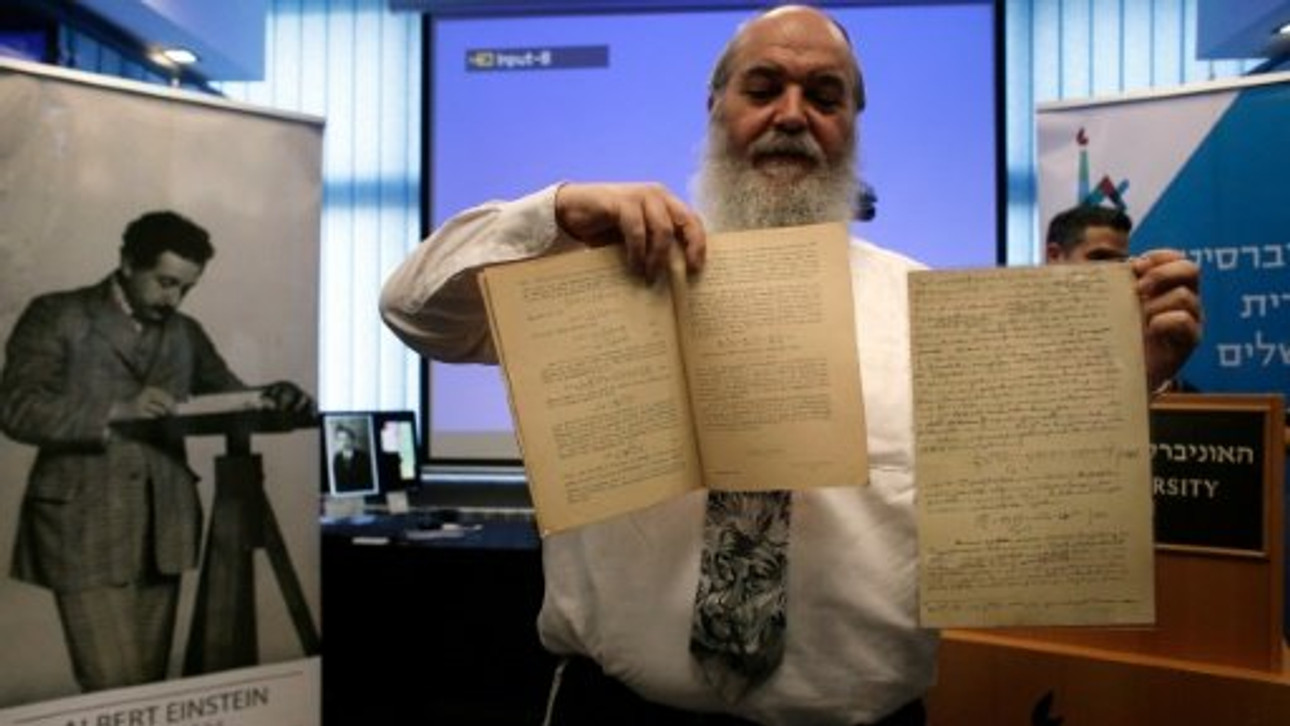 Einstein writings in Jerusalem show theory 100 years ahead of time