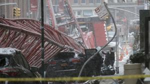 انهيار رافعة في مانهاتن