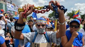 Manifestation anti-Maduro à Caracas
