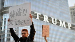 Manifestations à travers les Etats-Unis pour protester contre l'élection de Trump