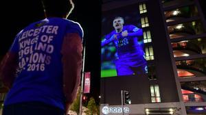 Les supporteurs de Leicester, sacré champion d'Angleterre