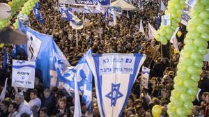 Likud supporters celebrate Netanyahu's victory