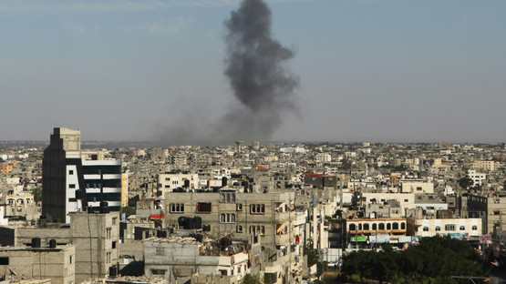 Israel strikes targets in Gaza after mortar fire as border tensions intensify