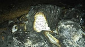 West Bank: Suspected Palestinian vandals torch Jewish prayer tent, holy books