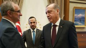 WATCH: 'Hatikva' played in Turkish Presidential Palace as Israel envoy arrives