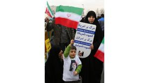 Banners and selfies as Iranians mark revolution anniversary