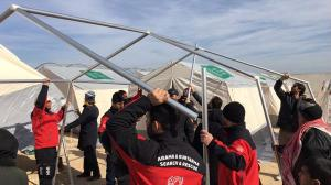 Turkish Islamist aid group establishes refugee camps on Syrian soil