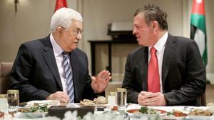 ابو مازن والعاهل الاردني يتفقان على اجراءات بحال نقل السفارة الامريكية  للقدس